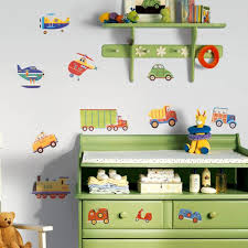 baby nursery decorative wall stickers as nursery decorations baby nursery vehicles wall decal decor wallpaper child room decoration sticker color vinyl wall stickers
