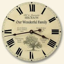 personalized anniversary clocks family picture clock family photo wall clock borin clocks