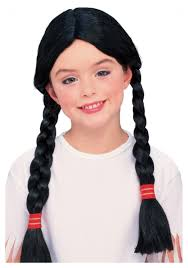 girls native american costume wig kids indian costume wigs