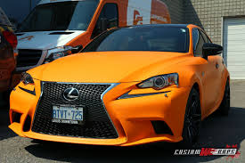 lexus toronto jobs lexus is250 matte orange wrap customwraps ca
