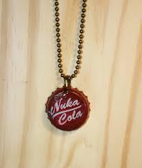 bottle cap necklaces fallout nuka cola bottle cap necklace by timataetrinkets on etsy