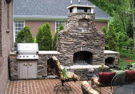 Outdoor Fireplace Patio Designs Design Idea For Carelessly Stacked Patio Fireplace