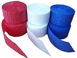 crepe paper streamers bulk 6 set bulk multi pack crepe paper streamer roll usa