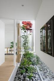 marvelous living space design with indoor garden decorated with