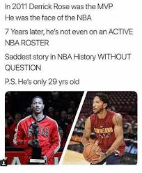 in 2011 derrick rose was the mvp he was the face of the nba 7