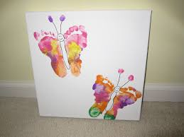 diy footprint butterflies butterfly footprints and printing
