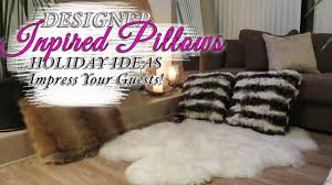 Pottery Barn Fur Blanket Diy Faux Fur Throw Pillow Cushions Hostess Tips Youtube