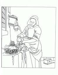 la lechera vermeer para colorear e ilustrar pinterest