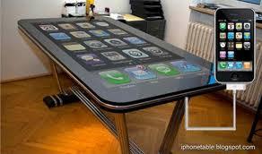 ecran bureau table connect un bureau iphone avec un écran de 58 pouces paperblog