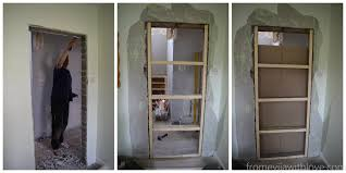 How To Lay Laminate Flooring In A Doorway How To Close Off A Doorway And Turn It Into A Solid Wall From
