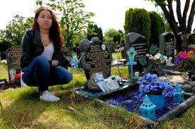 anguish as grave robbers strike at baby s memorial at canley