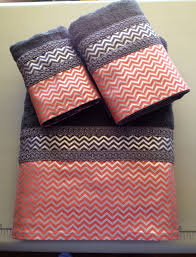Chevron Bathroom Decor by Coral And Navy Bath Towels Towel