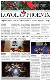 loyola phoenix volume 48 issue 14 by loyola phoenix issuu