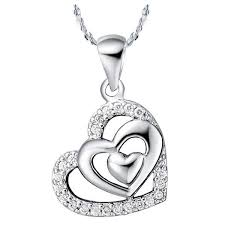 real white gold fancy necklace design fashion birthday