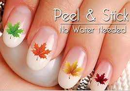 40 fall and autumn maple leaf nail decal sticker