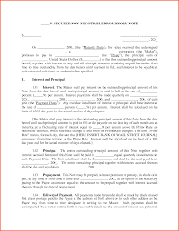 11 secured promissory note template survey template words