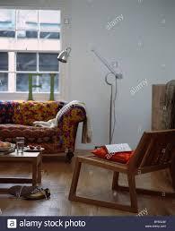 Patchwork Chesterfield - metal floor l beside colorful patchwork chesterfield sofa below