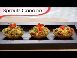 indian canapes ideas sprout canapes indian vegetarian tangy bite