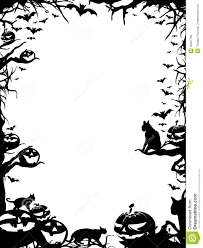 black halloween tree halloween border black and white landscape u2013 festival collections
