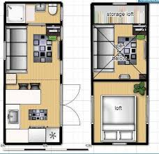 small home floor plans with loft tiny house on wheels floor plan with single loft shipster