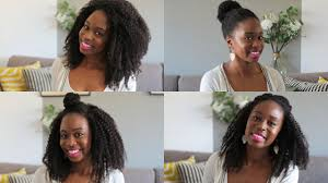different hairstyles with extensions 4 hairstyles with kurly klips natural hair extensions youtube