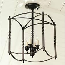 wrought iron flush mount lighting lighting semi flush mounts american country style light black