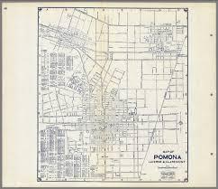map of pomona california map of pomona laverne claremont california david rumsey