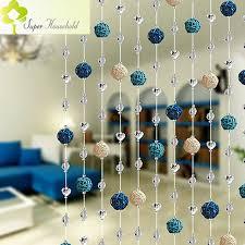 Diy Beaded Door Curtains Diy Rattan Ball Crystal Bead Curtain Decorative Door Curtains