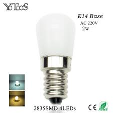 yotoos e14 led bulb 220v 2835smd led light replace refrigerator