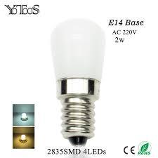 Refrigerator Light Bulbs Yotoos E14 Led Bulb 220v 2835smd Led Light Replace Refrigerator