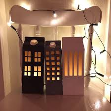 super simple diy light houses out of milk cartons home interior