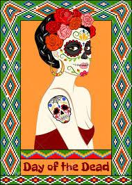 dia de los muertos sugar skulls dia de los muertos card with calavera woman and sugar skull