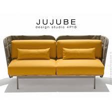 coussin d assise canapé tabouret design jujube structure acier peint avec coussin d assise