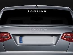 jaguar back 1 x jaguar sticker for windshield or back window white