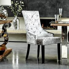 Silver Dining Chair Chairs Stunning Velvet Dining Chairs Velvet Dining Chairs Modern