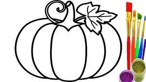 how to draw pumpkin rainbow coloring book drawing for childrens