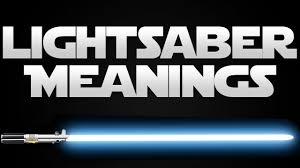 star wars lightsaber color meanings blue youtube