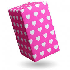 heart wrapping paper gift wrap small white hearts on pink fluo