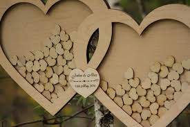 alternatives to wedding guest book wedding guest book alternative guest book drop top hearts rustic