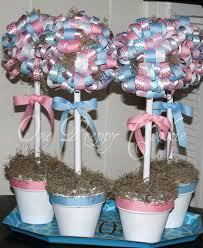 one preppy cookie pink or blue bows for baby