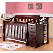 Changing Table In Espresso Large Crib And Changing Table Set Baby Crib Changing Table Set