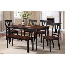 Black And Cherry Wood Dining Chairs Cherry Black Wood Bench