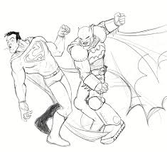 clip art batman and superman coloring pages mycoloring free