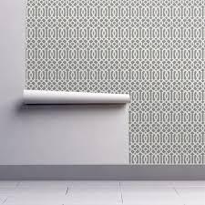 imperial trellis light gray wallpaper mrsmberry spoonflower