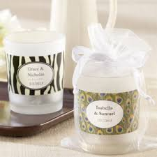 candle favors personalized frosted glass votive candle holder wedding favors