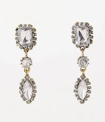 post earrings vintage style gold silver teardrop gem post earrings