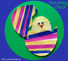 Easter Decorations With Construction Paper by Hatching Easter Craft For Kids