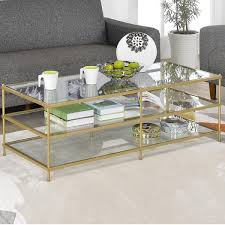 gold glass coffee table 3 layer gold glass coffee table