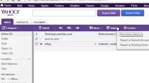 yahoo email junk mail how to make the yahoo spam filter work internet help basics