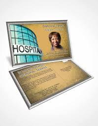 obituary template trifold brochure golden nurse